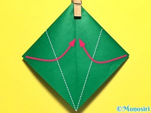 折り紙でピーマンの折り方手順22