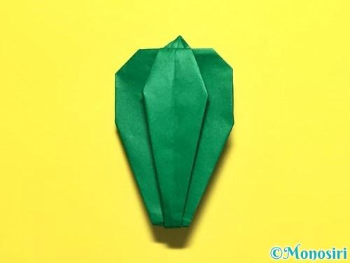 折り紙でピーマンの折り方手順28