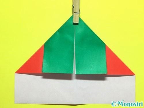 折り紙でトマトの折り方手順8