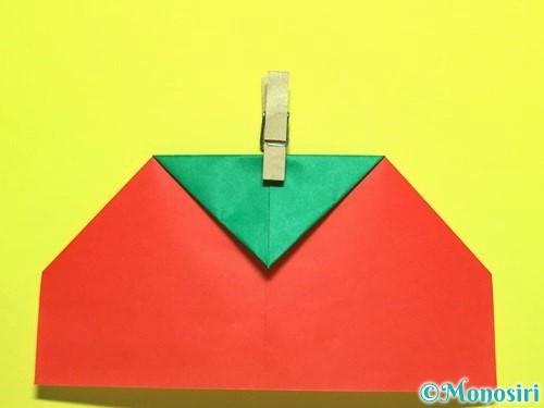 折り紙でトマトの折り方手順11