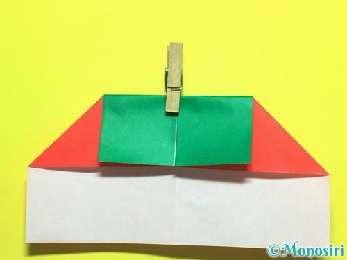 折り紙でトマトの折り方手順12
