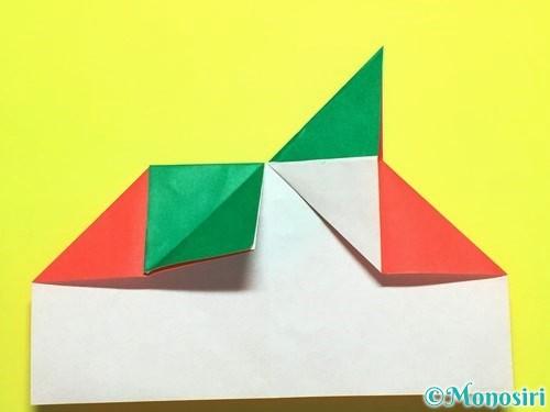 折り紙でトマトの折り方手順17