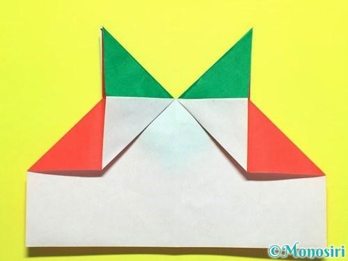 折り紙でトマトの折り方手順18