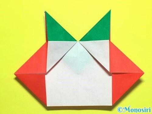 折り紙でトマトの折り方手順20