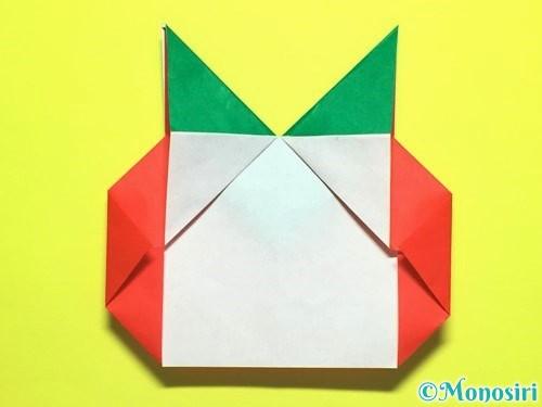 折り紙でトマトの折り方手順22