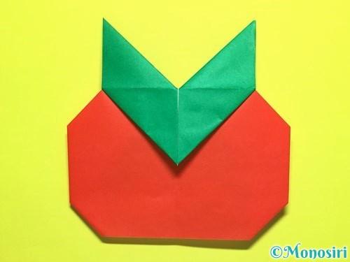折り紙でトマトの折り方手順23
