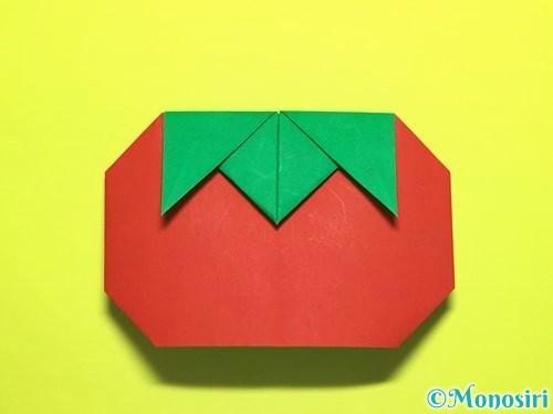 折り紙でトマトの折り方手順25