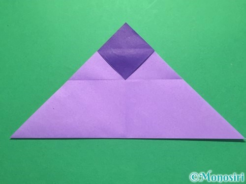 折り紙でなすの折り方手順19