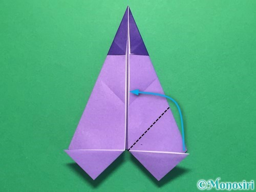折り紙でなすの折り方手順25