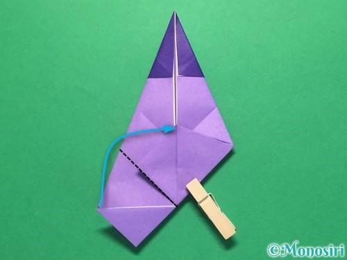 折り紙でなすの折り方手順27