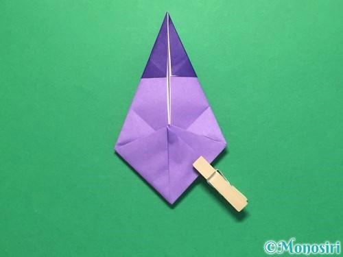 折り紙でなすの折り方手順28