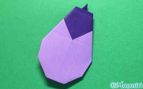 折り紙で折ったなす