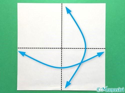 折り紙でお墓の折り方手順1