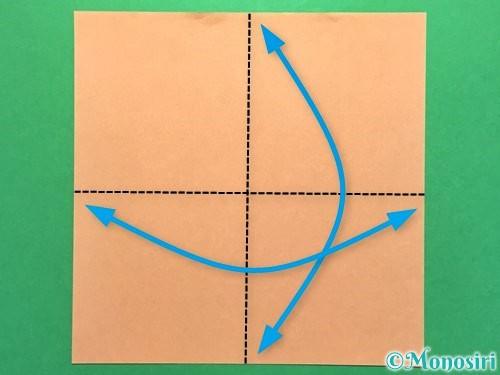 折り紙でお墓の折り方手順9