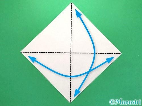 折り紙でお墓の折り方手順13