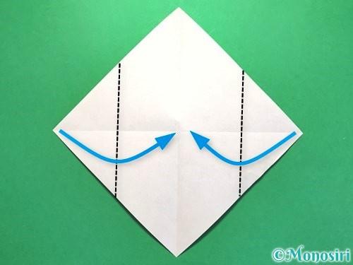 折り紙でお墓の折り方手順15