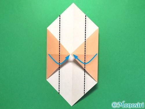 折り紙でお墓の折り方手順17