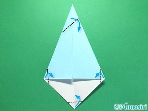 折り紙で火の玉の折り方手順11