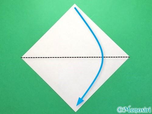 折り紙でから傘お化けの折り方手順1