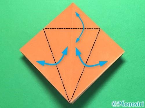 折り紙でから傘お化けの折り方手順10