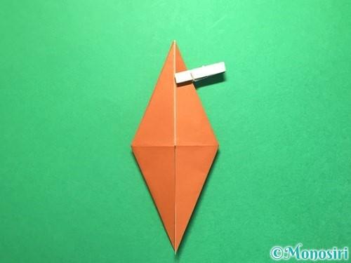 折り紙でから傘お化けの折り方手順15