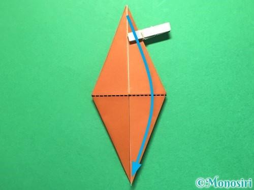 折り紙でから傘お化けの折り方手順16
