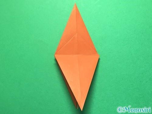 折り紙でから傘お化けの折り方手順17