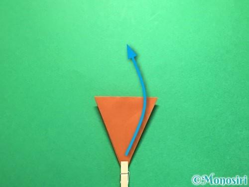 折り紙でから傘お化けの折り方手順26