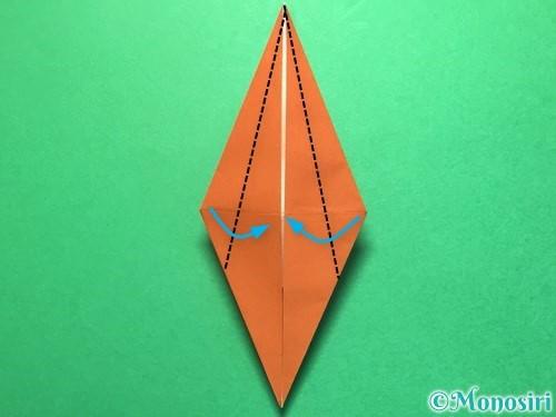 折り紙でから傘お化けの折り方手順28