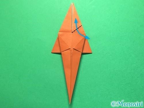 折り紙でから傘お化けの折り方手順31