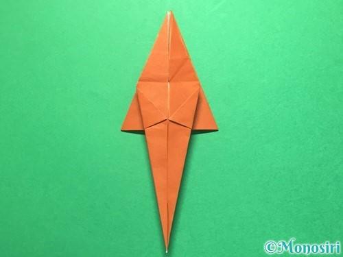 折り紙でから傘お化けの折り方手順32