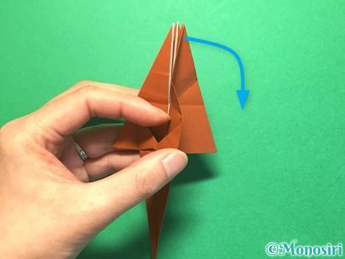 折り紙でから傘お化けの折り方手順34