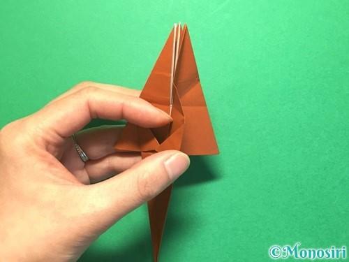 折り紙でから傘お化けの折り方手順33