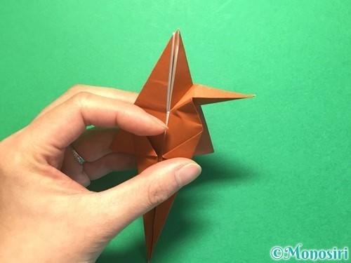 折り紙でから傘お化けの折り方手順35