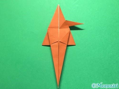 折り紙でから傘お化けの折り方手順36