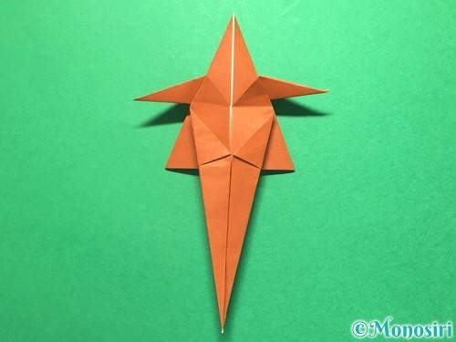 折り紙でから傘お化けの折り方手順37