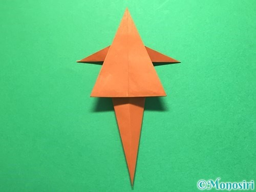 折り紙でから傘お化けの折り方手順38
