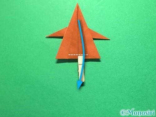 折り紙でから傘お化けの折り方手順41