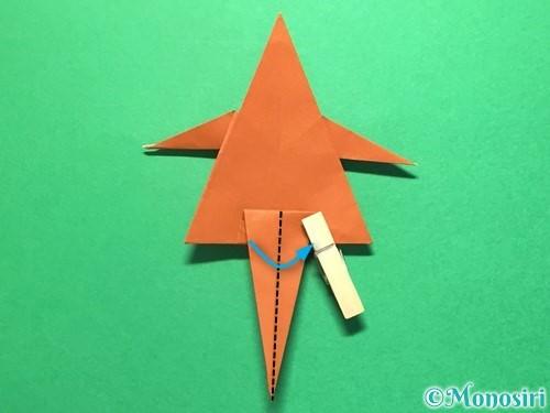 折り紙でから傘お化けの折り方手順43