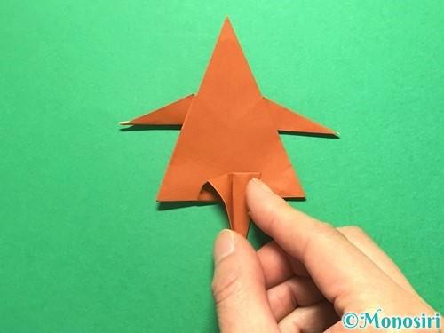 折り紙でから傘お化けの折り方手順44