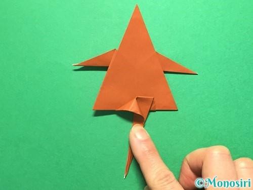 折り紙でから傘お化けの折り方手順45