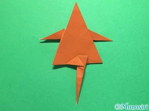 折り紙でから傘お化けの折り方手順46