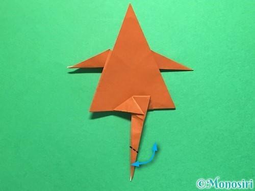 折り紙でから傘お化けの折り方手順47