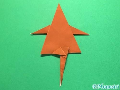 折り紙でから傘お化けの折り方手順48