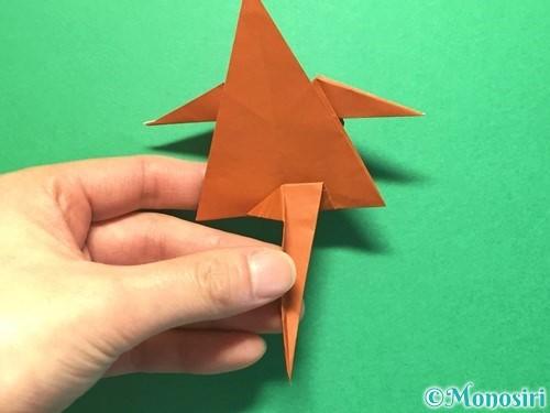 折り紙でから傘お化けの折り方手順49