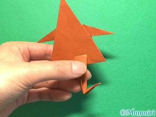 折り紙でから傘お化けの折り方手順51