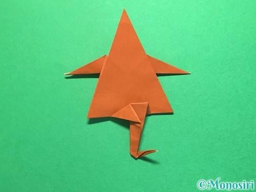 折り紙でから傘お化けの折り方手順53