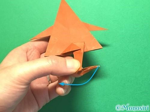 折り紙でから傘お化けの折り方手順55