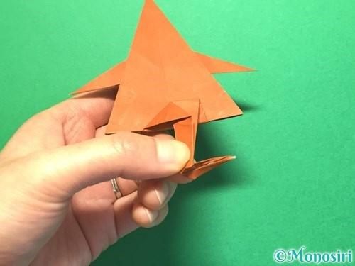 折り紙でから傘お化けの折り方手順54