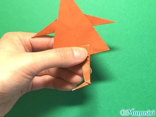 折り紙でから傘お化けの折り方手順57